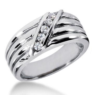 18K Gold & 0.24 Carat Diamond Wedding Ring for Women