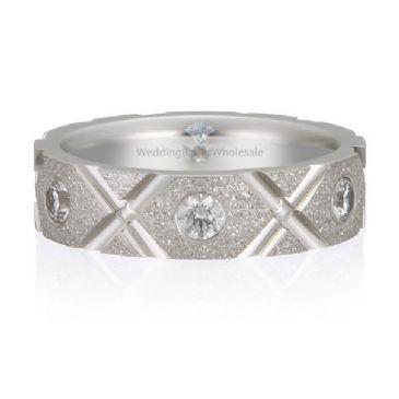 18K Gold 5mm Diamond Wedding Bands Rings XO 0.48ctw.