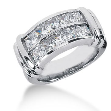 18K Princess Cut Diamond Anniversary Ring (2.70ctw.)