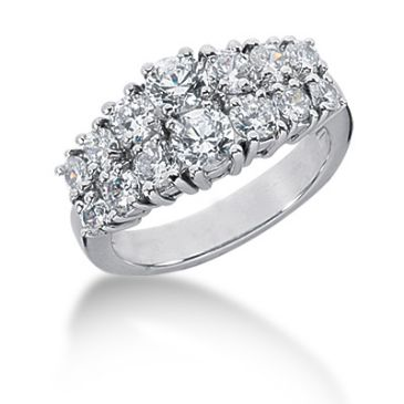 18K Prong Round Brilliant Diamond Anniversary Ring (2.0ctw.)