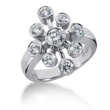 18K Round Brilliant Diamonds Clockwork Anniversary Ring (1.30ctw.)