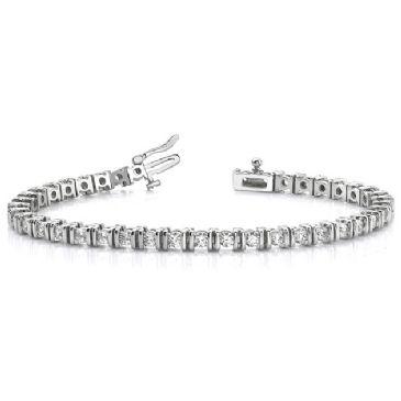 18K White Gold Diamond Round Brilliant Channel Set Tennis Bracelet (3.9ctw.)