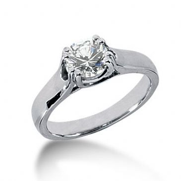 18K Gold Solitaire Diamond Engagement Ring 1ctw. 3012-ENGS18K-517