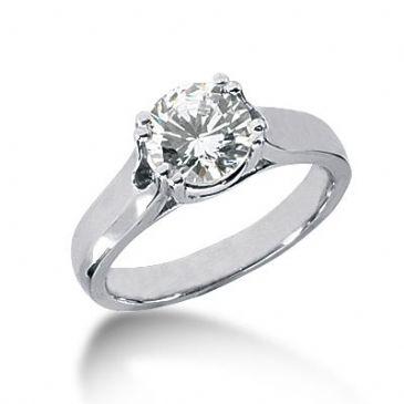 Platinum Solitaire Diamond Engagement Ring 1.5ctw. 3013-ENGSPLAT-518