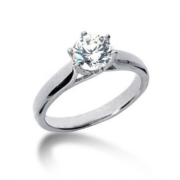 Platinum Solitaire Diamond Engagement Ring 1ctw. 3014-ENGSPLAT-6071