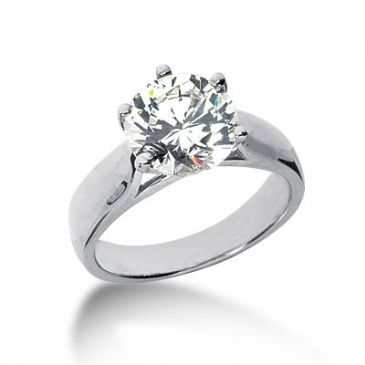 18K Gold Solitaire Diamond Engagement Ring 2.5ctw. 3015-ENGS18K-6075