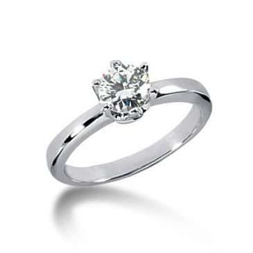 18K Gold Solitaire Diamond Engagement Ring 0.75ctw. 3016