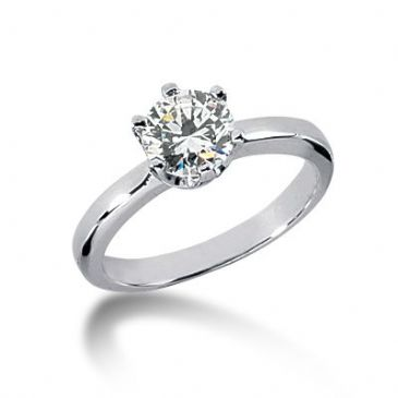 18K Gold Solitaire Diamond Engagement Ring 1ctw. 3017-ENGS18K-869