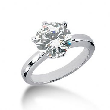 18K Gold Solitaire Diamond Engagement Ring 3ctw. 3018-ENGS18K-875