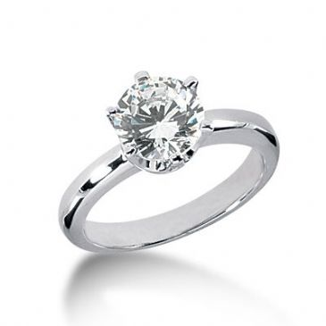 Platinum Solitaire Diamond Engagement Ring 1.75ctw. 3019-ENGSPLAT-872