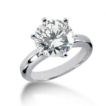 Platinum Solitaire Diamond Engagement Ring 3.5ctw. 3020-ENGSPLAT-876