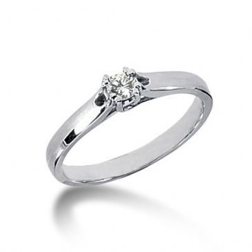 14K Gold Solitaire Diamond Engagement Ring 0.15 ctw. 3011-ENGS14K-513
