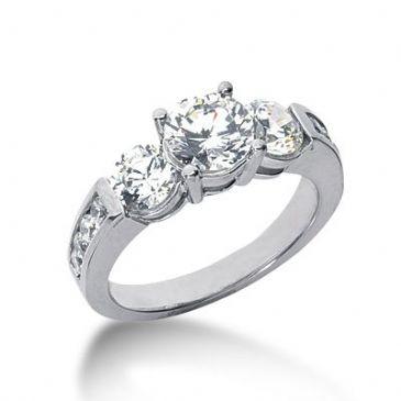14K Side Stone Diamond Engagement Ring   2.46 ctw 2003-ENGSS14K-6029
