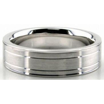 18K Gold 6mm Diamond Cut Wedding Band 639
