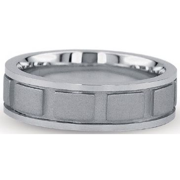 Platinum 950 7mm Diamond Cut Wedding Band 703