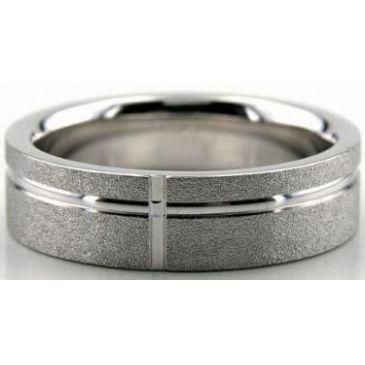 18K Gold 6mm Diamond Cut Wedding Band 614