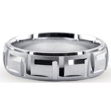 Platinum 950 6mm Diamond Cut Wedding Band 708