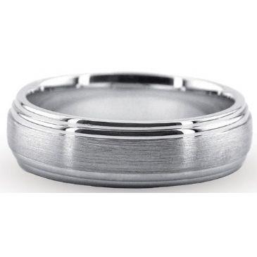 Platinum 950 6mm Diamond Cut Wedding Band 712