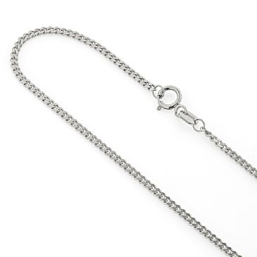 1.5mm Exquisite 14K White Gold Miami Cuban Link Curb Chain 22-40in