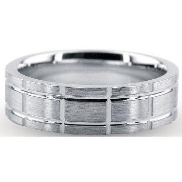 18K Gold 6mm Diamond Cut Wedding Band 714