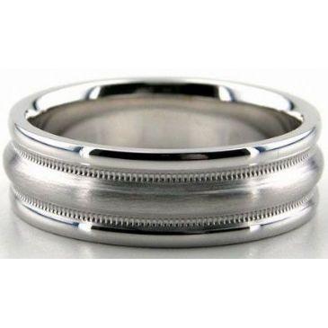 18K Gold 7mm Diamond Cut Wedding Band 650