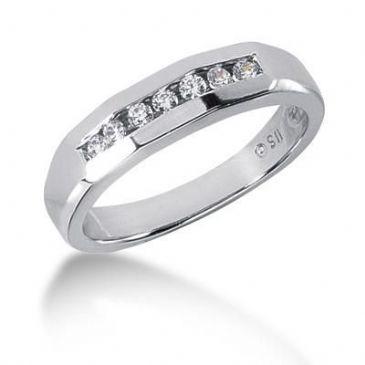 Men's Platinum Diamond Ring 7 Round Stone 110PLAT-MDR1247
