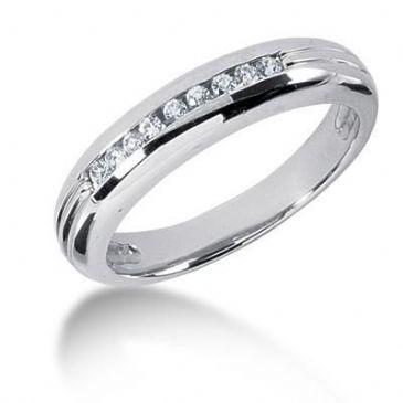 Men's 18K Gold Diamond Ring 9 Round Stone 11618-MDR1265