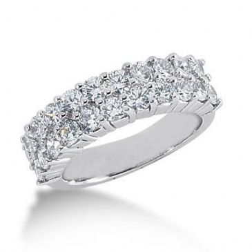 18K Gold Diamond Anniversary Wedding Ring 22 Round Brilliant Diamonds 1.98ctw 103WR160818K