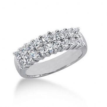950 Platinum Diamond Anniversary Wedding Ring 18 Round Brilliant Diamonds 0.90ctw 104WR104PLT