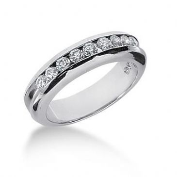 18K Gold Diamond Anniversary Wedding Ring 9 Round Brilliant Diamonds 0.45ctw 105WR70118K