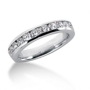 18K Gold Diamond Anniversary Wedding Ring 11 Round Brilliant Diamonds 1.10ctw 106WR40818K