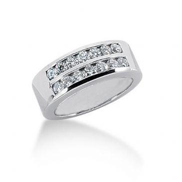 950 Platinum Diamond Anniversary Wedding Ring 14 Round Brilliant Diamonds 0.70ctw 107WR255PLT