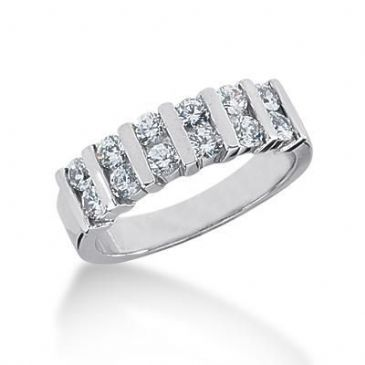 950 Platinum Diamond Anniversary Wedding Ring 12 Round Brilliant Diamonds 0.84ctw 112WR2199PLT