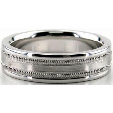 18K Gold 6mm Diamond Cut Wedding Band 679
