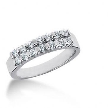 18K Gold Diamond Anniversary Wedding Ring 14 Round Brilliant Diamonds 0.42ctw 122WR126218K
