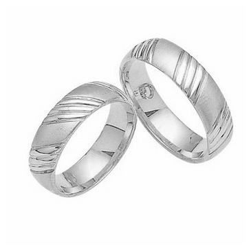 Platinum His & Hers Classic Gold 023 Wedding Band Set HH023PLAT