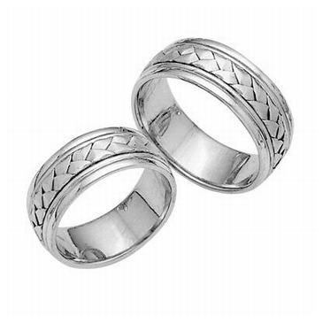 Platinum His & Hers Classic 030 Wedding Bands Set HH030PLAT