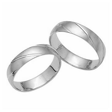Platinum His & Hers Classic 031 Wedding Band Set HH031PLAT