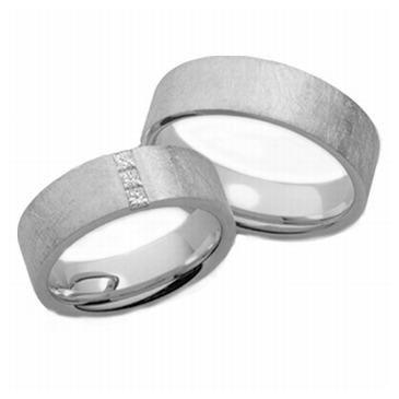 Platinum His & Hers 0.15 ct Diamond 033 Wedding Band Set HH033PLAT