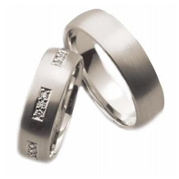 Platinum His & Hers 0.50 ct Diamond 043 Wedding Band Set HH043PLAT
