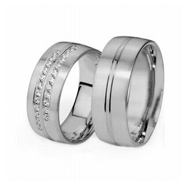 Platinum His & Hers 0.48 ct Diamond 078 Wedding Band Set HH048PLAT