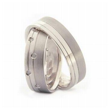 Platinum His & Hers 0.20 ct Diamond 052 Wedding Band Set HH052PLAT
