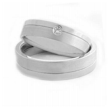 Platinum His & Hers 0.05 ct Diamond 060 Wedding Band Set HH060PLAT