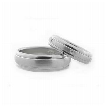 Platinum His & Hers 0.24 ct Diamond 069 Wedding Band Set HH069PLAT