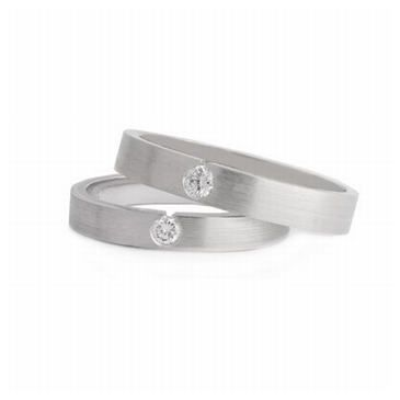 Platinum His & Hers 0.07 ct Diamond 070 Wedding Band Set HH070PLAT