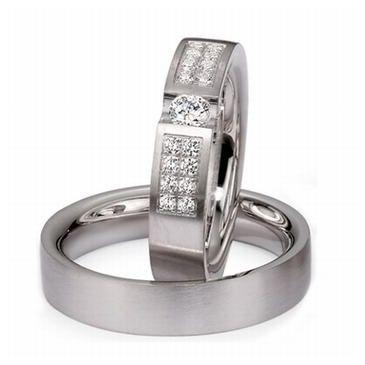 Platinum His & Hers 0.75ct Diamond 082 Wedding Band Set HH082PLAT