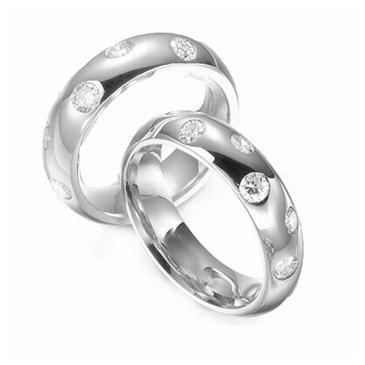 Platinum His & Hers 0.30 ct Diamond 095 Wedding Band Set HH095PLAT