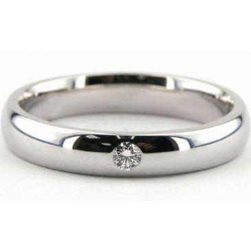 950 Platinum 4mm Diamond Wedding Bands Rings 1948