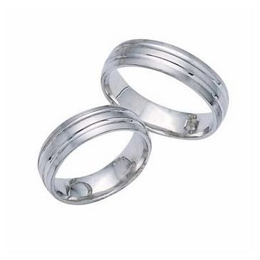 Platinum His & Hers Classic Gold 099 Wedding Band Set HH099PLAT