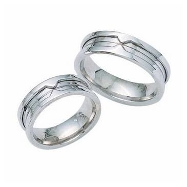 Platinum His & Hers Classic 100 Wedding Band Set HH100PLAT
